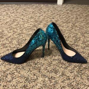 stessy blue Heels aldo brand size 6, never worn.